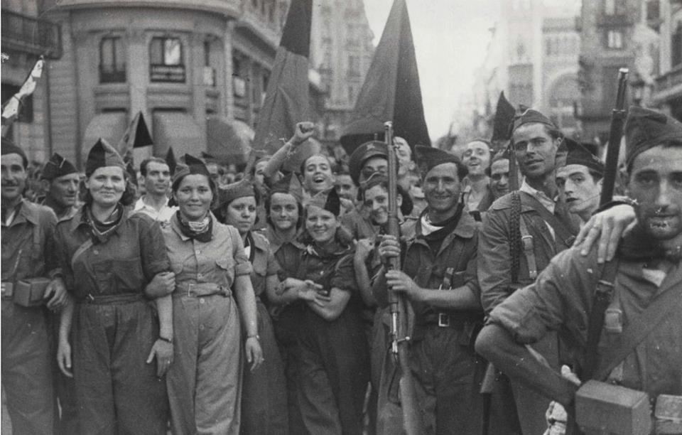 Anarchist militia in the Spanish revolution